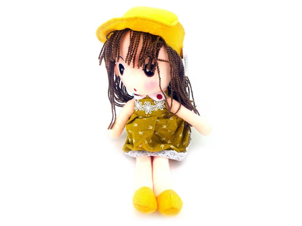 Plyšová panenka v klobouku (50 cm)