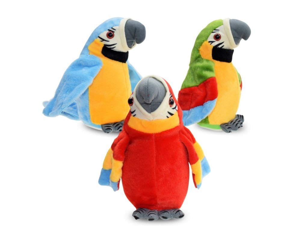 87932 1 0 electric talking parrot plush toys cute speaking record repeats waving wings electronic bird stuffed plush toy