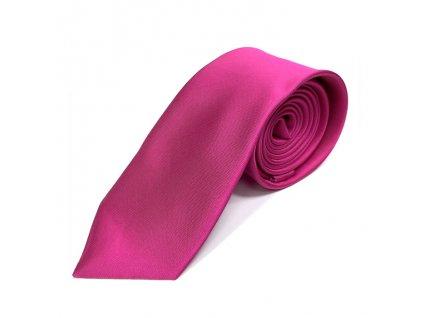 Elegantní Pánská Kravata - Tmavě Růžová