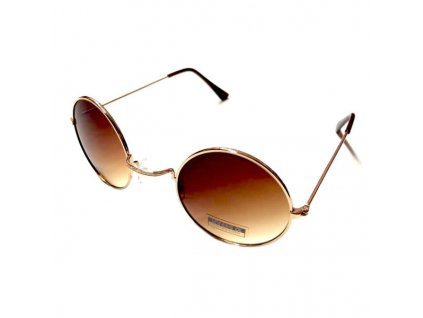 Sluneční Brýle Lenonky - Hnědé