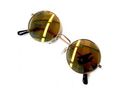 Sluneční Brýle Lenonky - Zlaté
