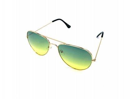131897 slunecni bryle aviator zeleno zlute