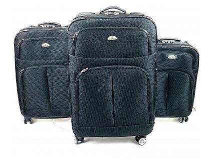 132596 cestovni kufr cerny sada 3ks