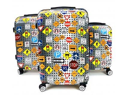 132572 cestovni skorepinovy kufr dopravni znacky sada 3ks
