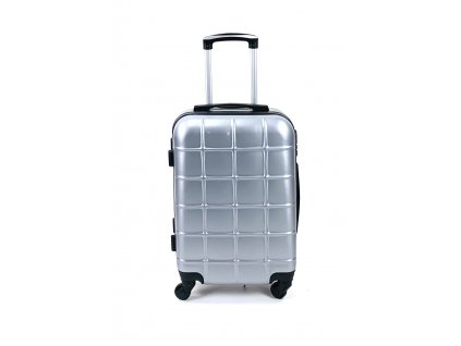 132587 cestovni skorepinovy kufr stribrny