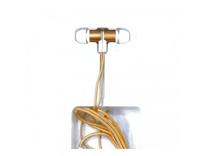 Stylová pecková sluchátka JP-20 (různé barvy) (Opicka Zlatá)