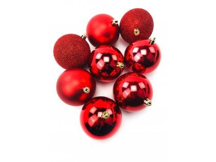 Vánoční koule ČERVENÉ - různé velikosti (Vánoční dekorativní koule Velikost 2cm - 1x balení (12x koule))