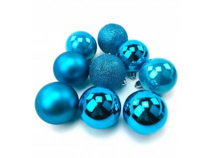 Vánoční koule MODRÉ - různé velikosti (Vánoční dekorativní koule Velikost 2cm - 1x balení (12x koule))