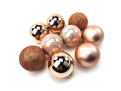Vánoční koule ROSE GOLD - různé velikosti (Vánoční dekorativní koule Velikost 2cm - 1x balení (12x koule))