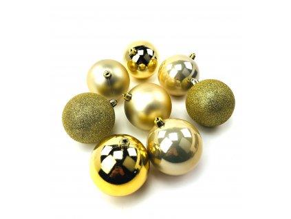 Vánoční koule ZLATÉ - různé velikosti (Vánoční dekorativní koule Velikost 2cm - 1x balení (12x koule))