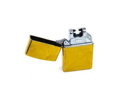170180 1 elektricky usb zapalovac zlaty s krabickou