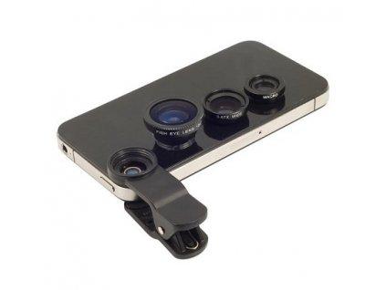 Univerzální Objektiv Na Mobil 3V1 (Barva Náhodná barva)