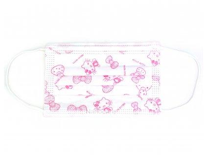 Dětská rouška na ústa ze speciálních vláken - Hello Kitty (10 ks)