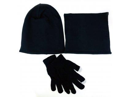 Zimní set - čepice+rukavice+nákrčník