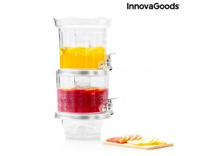 dvojity davkovac s nadrzi na led a podnos na aperitivy twintap innovagoods 135234 (4)