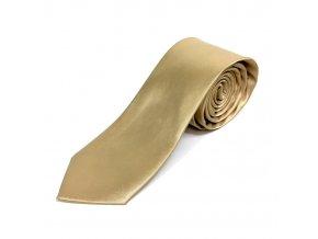 Elegantní Pánská Kravata - Zlatá