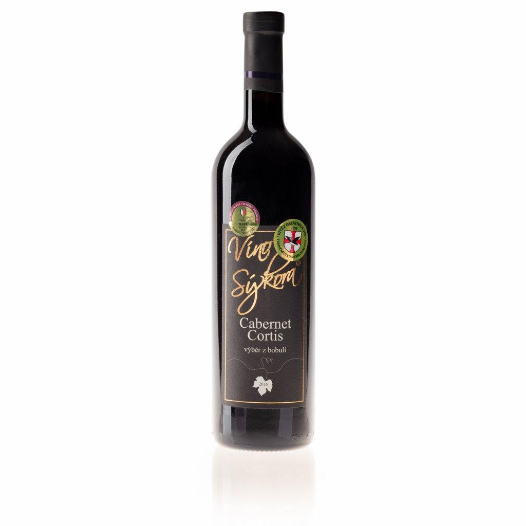 Víno Sýkora - Cabernet Cortis 2016, výběr z bobulí, suché, 0,75l