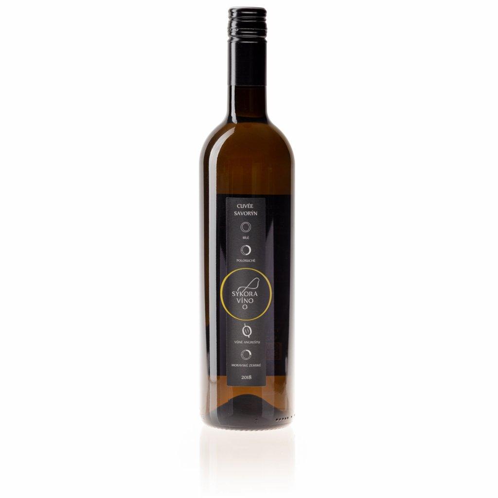 Cuvée Savorýn 2018, moravské zemské, polosuché, 0,75 l - Víno Sýkora