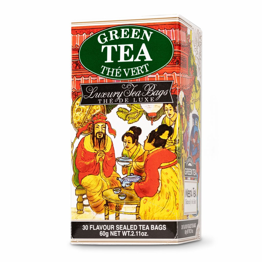Mlesna-Green Tea - zelený čaj 30 x 2 g