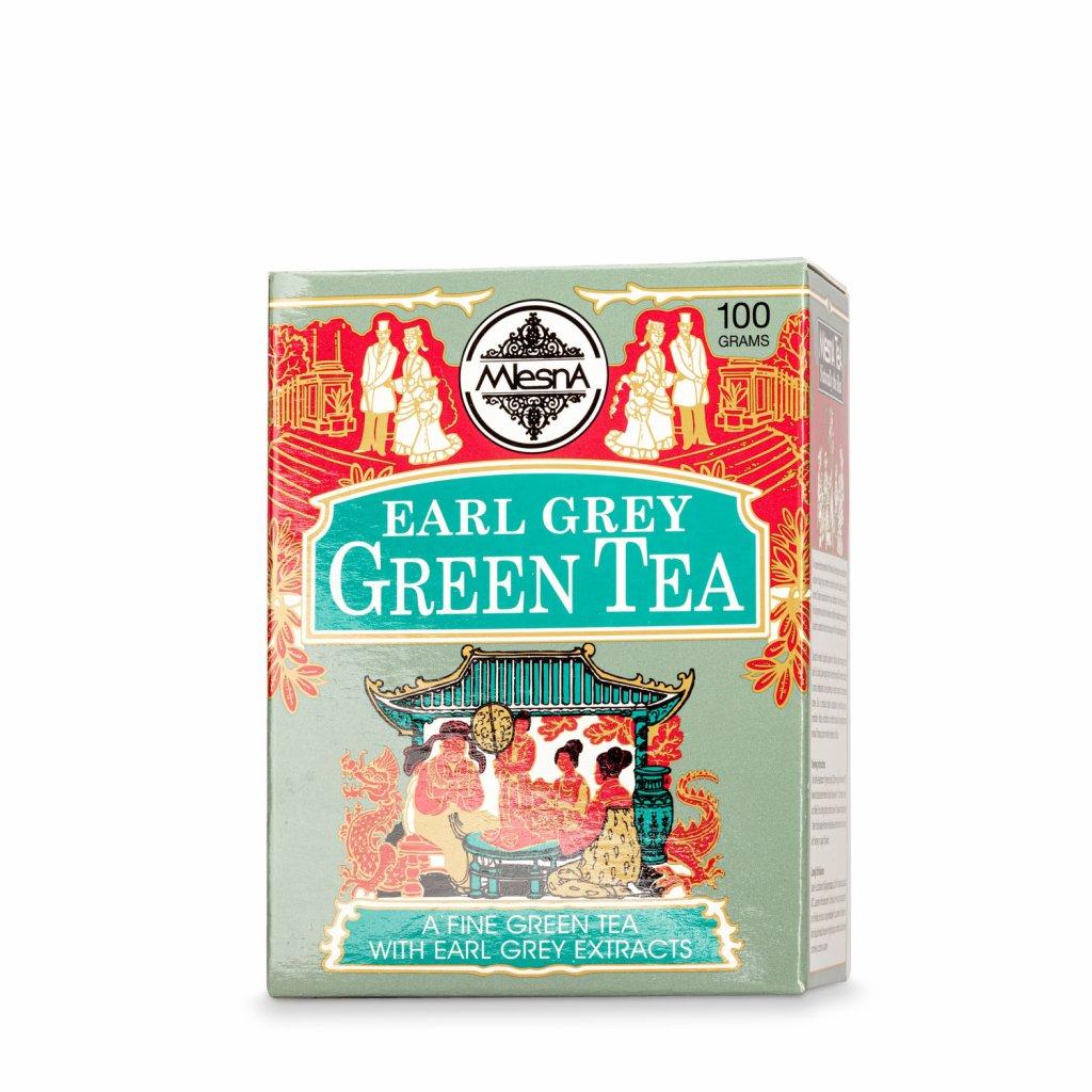 Mlesna - Earl Grey - zelený čaj 100 g