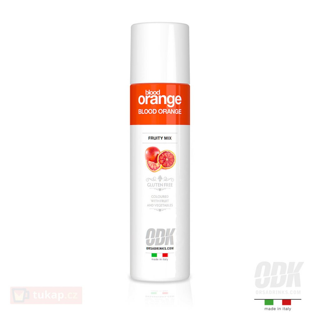 odk fruitymix blood orange cerveny pomeranc pyre