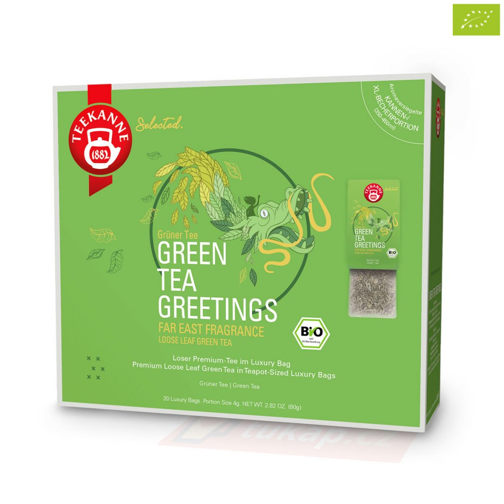 Teekanne Luxry Bag Green Tea Greetings 4009300017721 63120