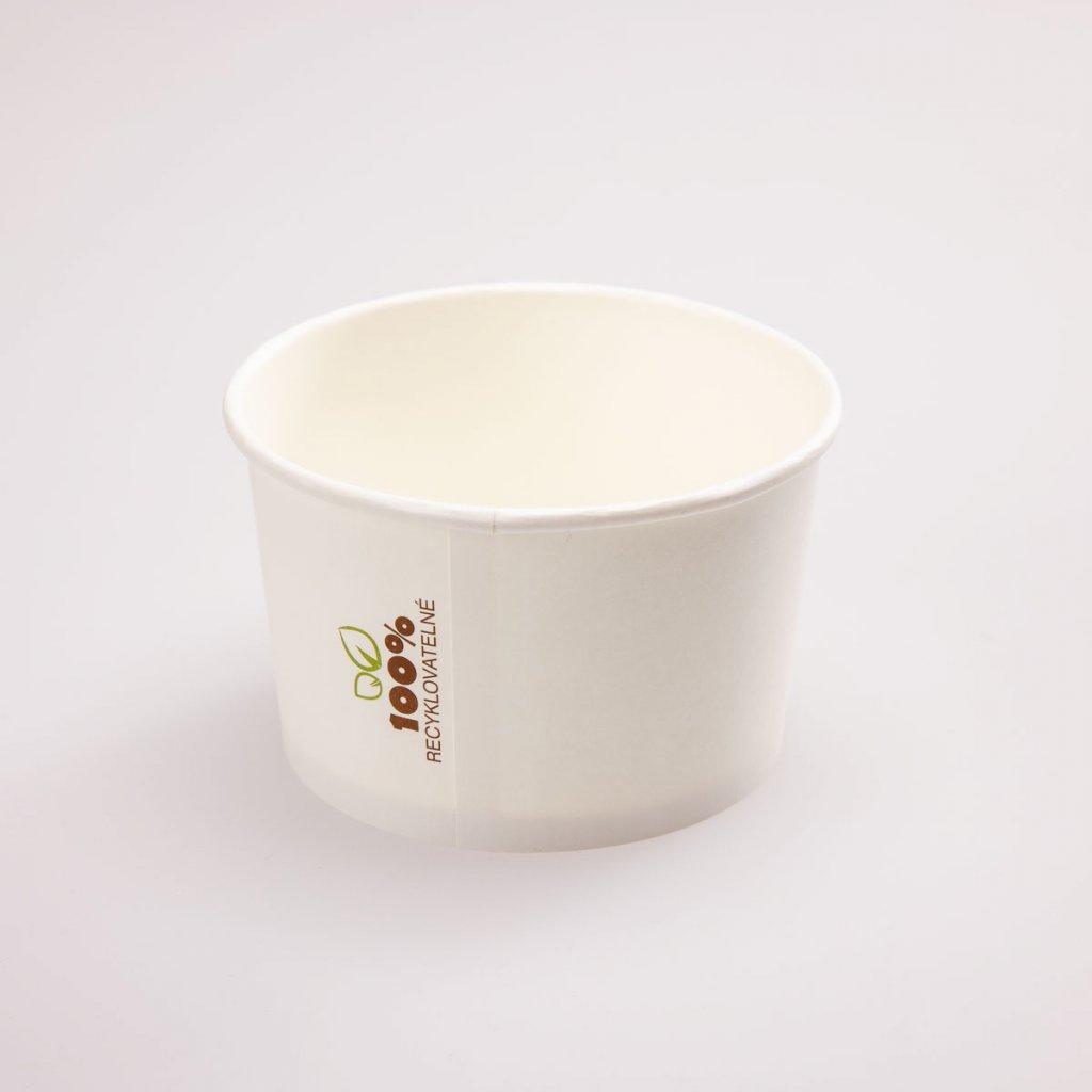 Miska na polévku bílá, kompostovatelná 400ml