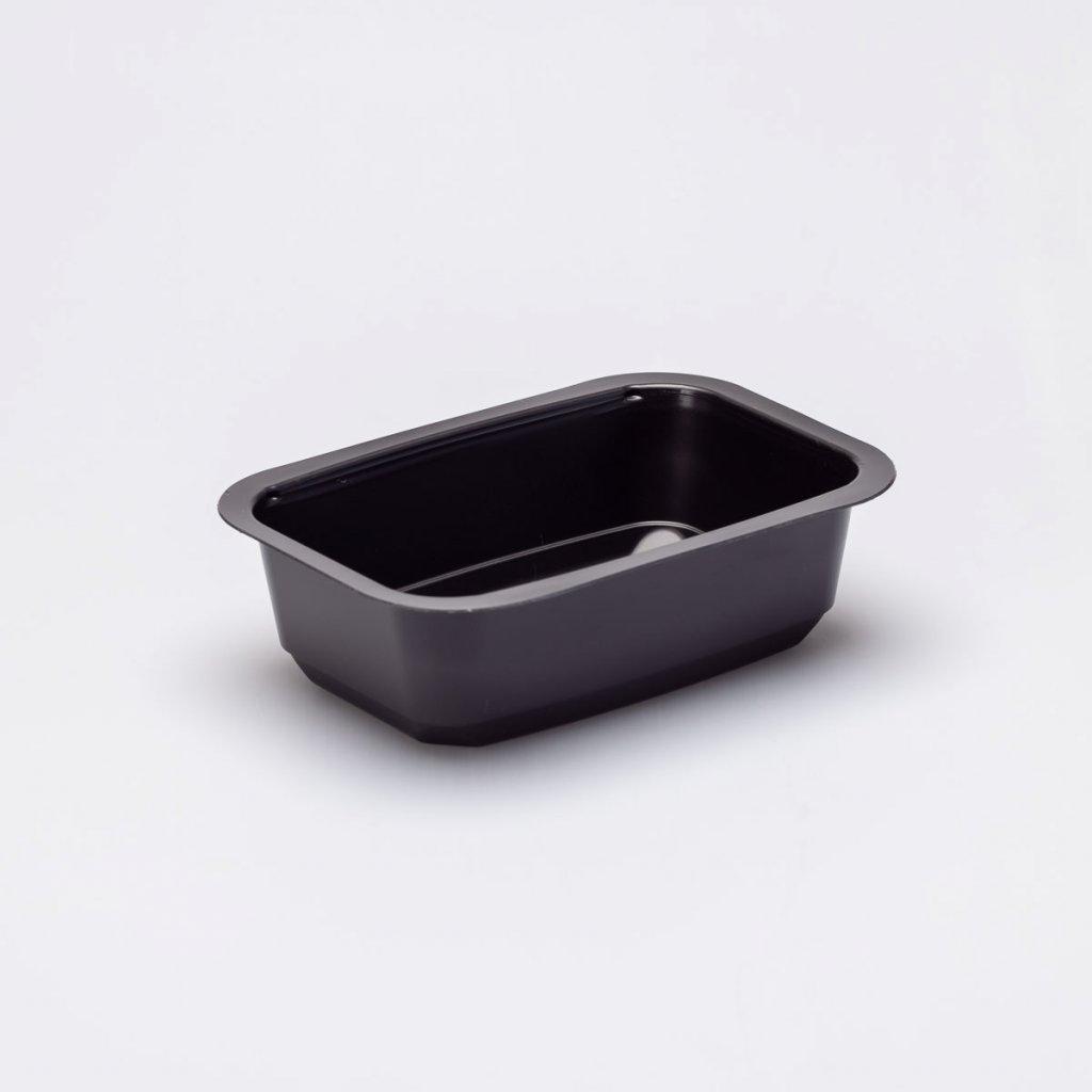 Vanička zatavovací černá, na polévku- 160x110x47mm,1D, PP- 700ks