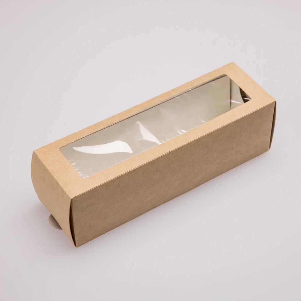 Papírová krabička na makronky hnědá
