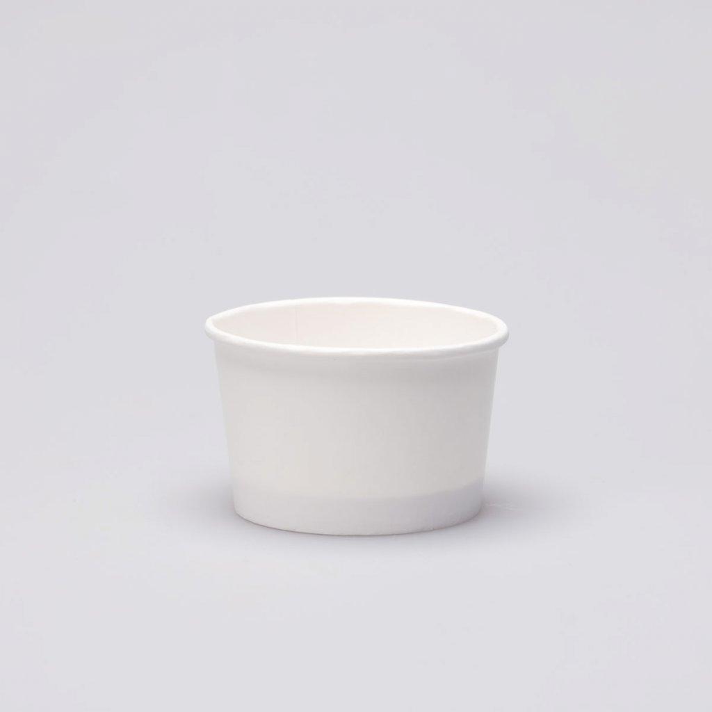 Kelímek na zmrzlinu bílý - 130ml