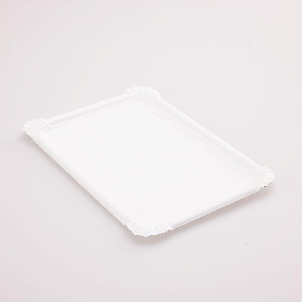 Tácek bílý 230x160mm