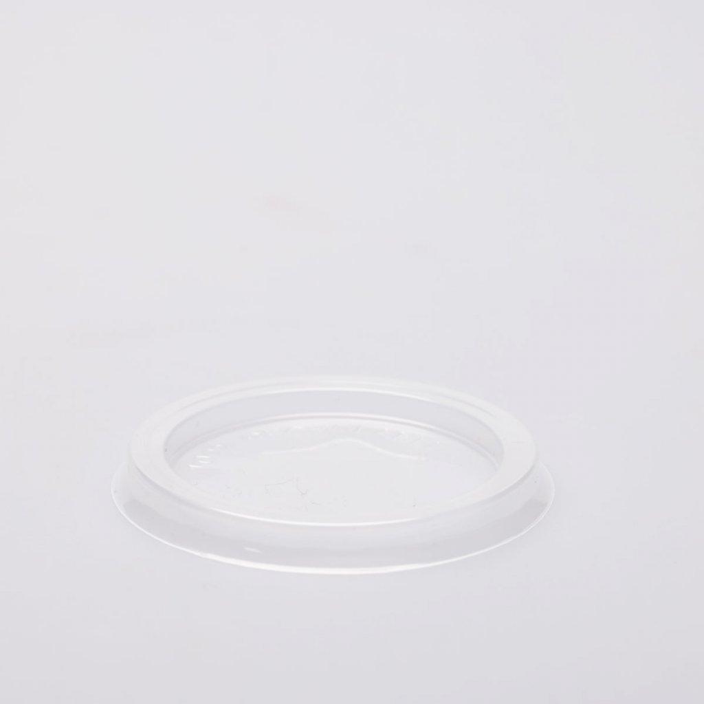 Víčko na kelímek, Transparentní, 30-100ml,d-66mm, PP