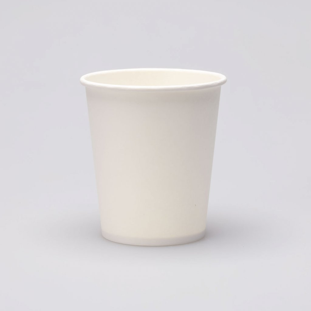 Kompostovatelný papírový kelímek bílý- 250ml,d-80mm,v- 88mm, PAP+PLA- 100ks