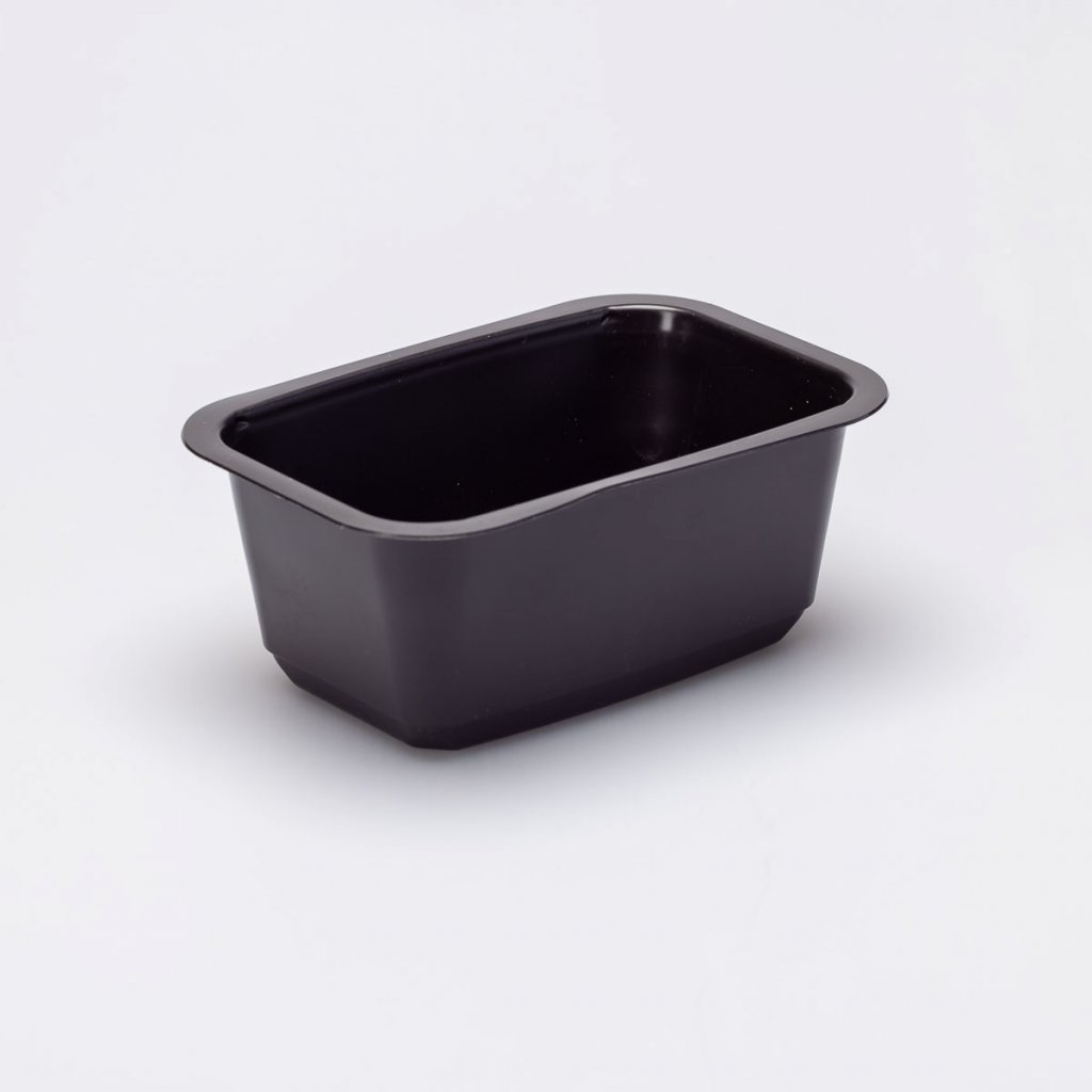 Vanička zatavovací černá, na polévku- 160x110x66mm,1D, PP