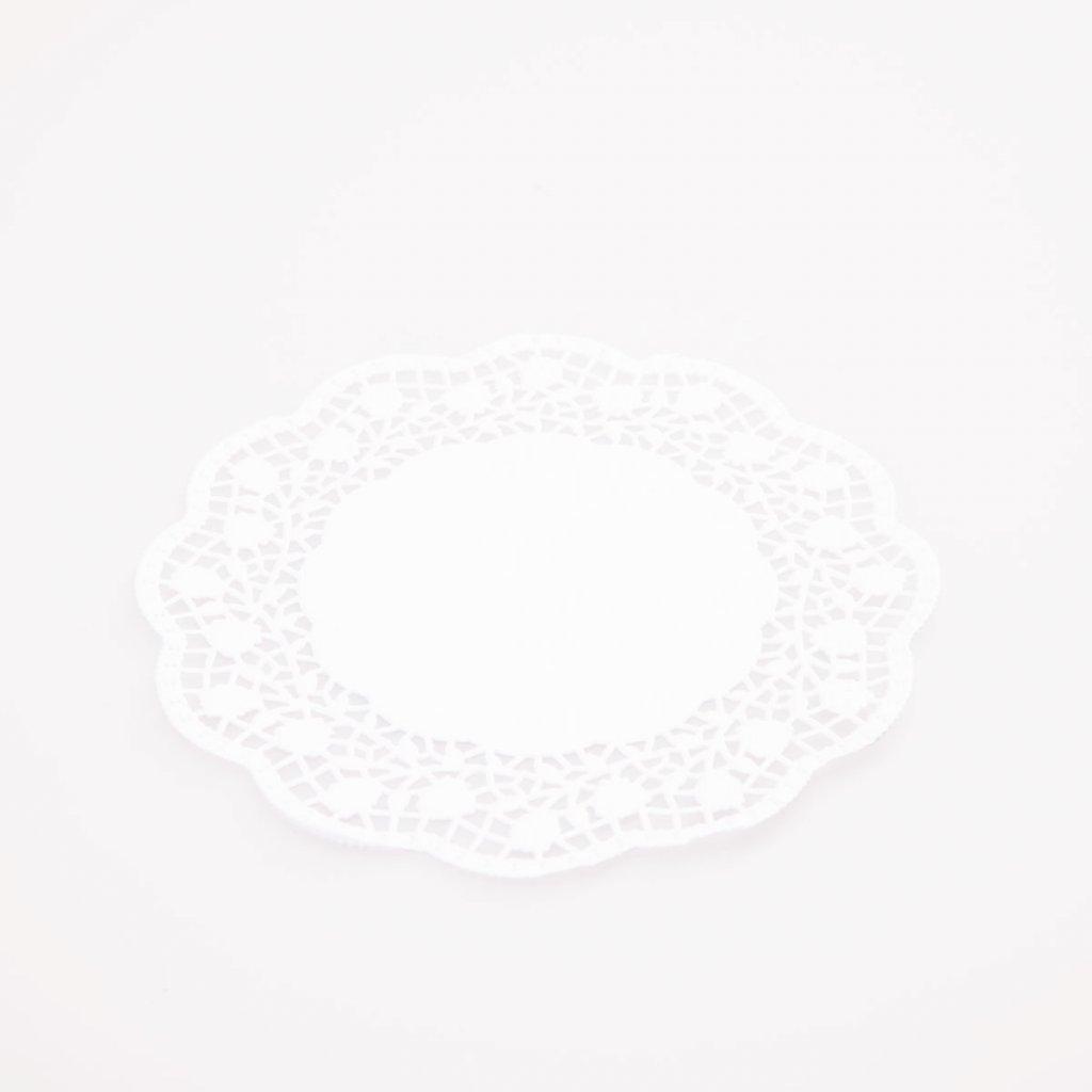 Podložka pod dort 28cm krajková bílá