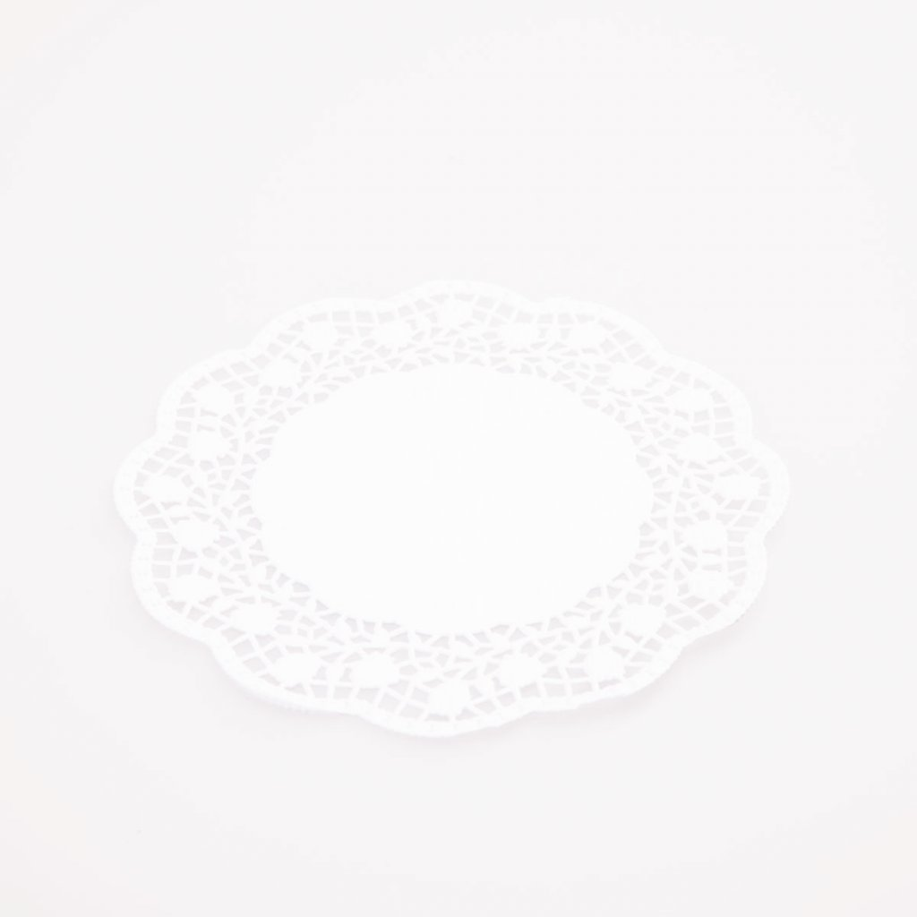 Podložka pod dort 38cm krajková bílá
