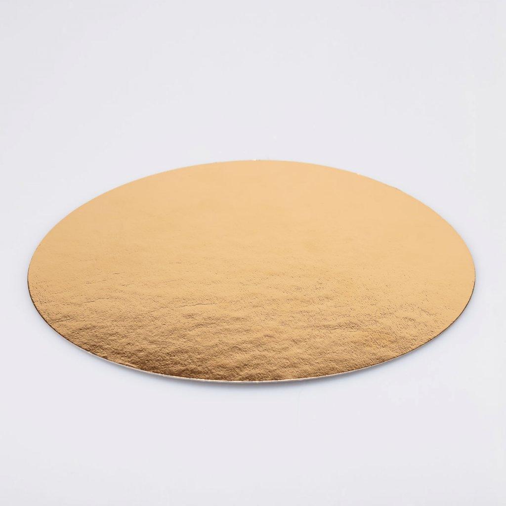 Podložka pod dort 26cm zlatá