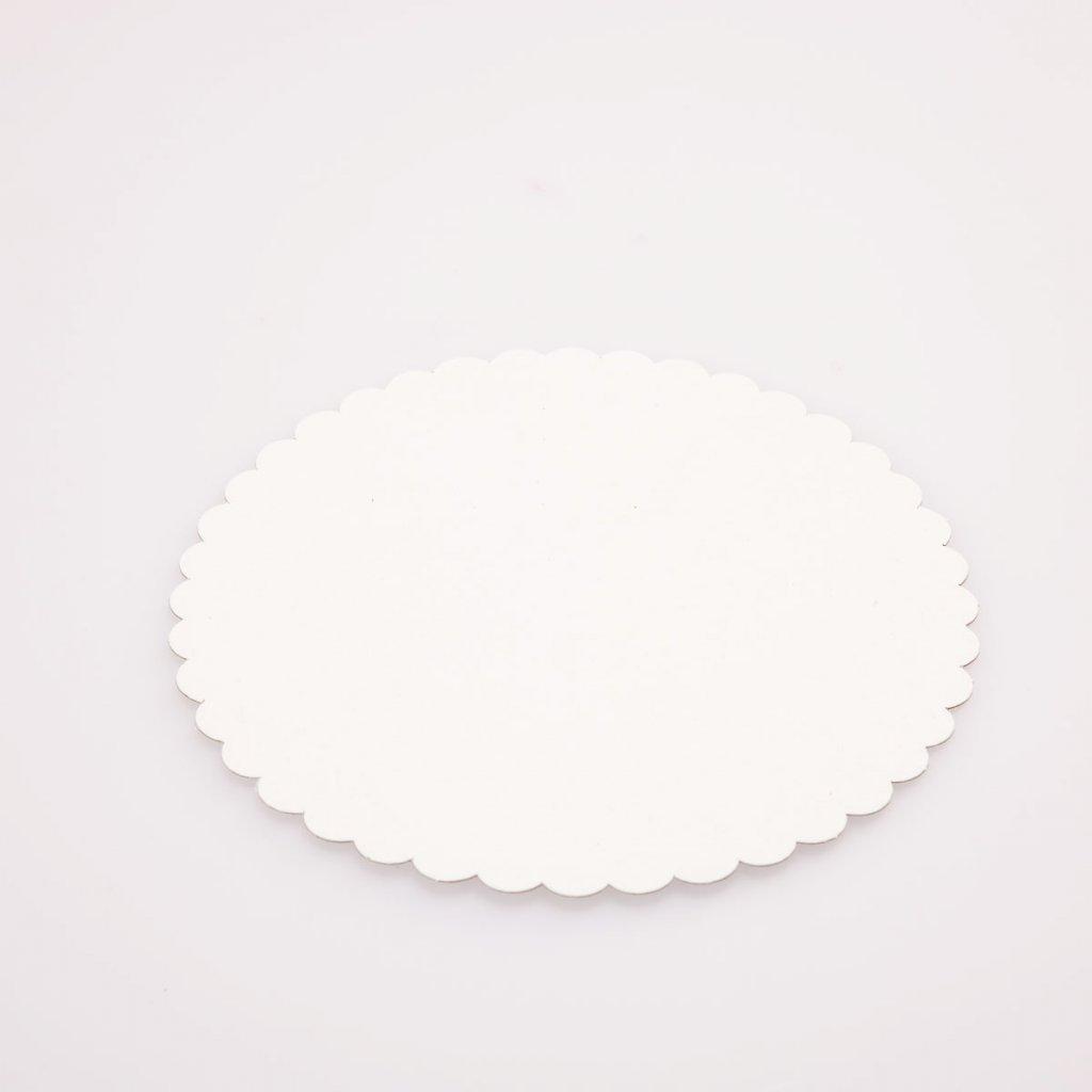 Podložka pod dort 22cm bílá, PAP