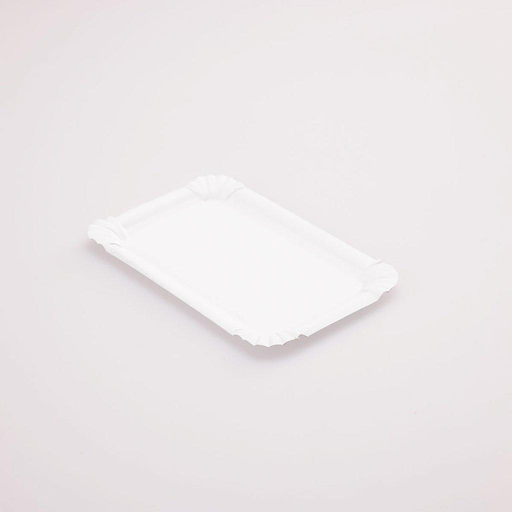 Tácek bílý 173x115mm