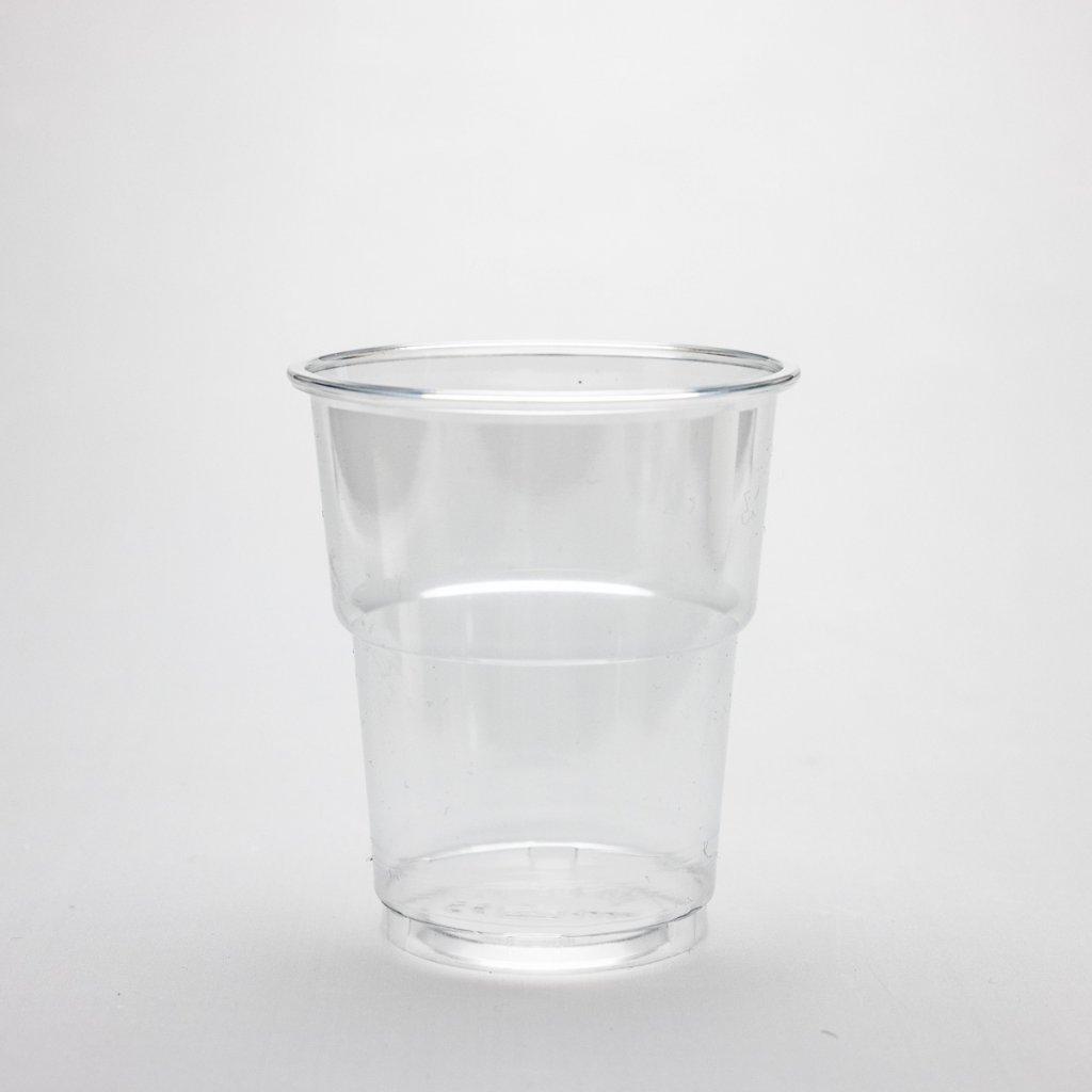 Kelímek na studené nápoje, Transparentní, 250ml,d-78mm, PET
