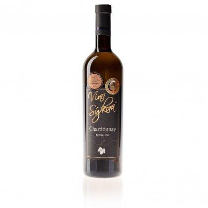 Víno Sýkora - Chardonnay 2015, pozdní sběr, polosladké, 0,75 l