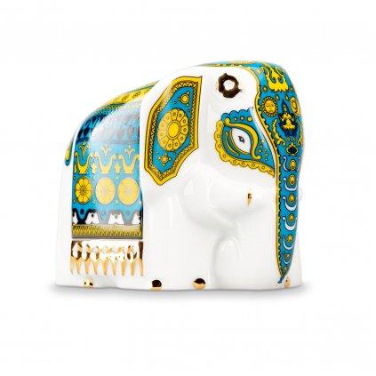 Porcelánový slon s černým čajem - modrý 50 g