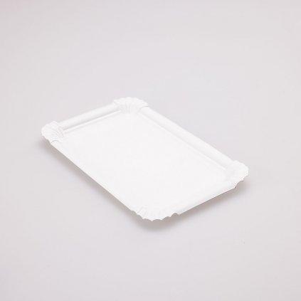 Tácek bílý 202x132mm
