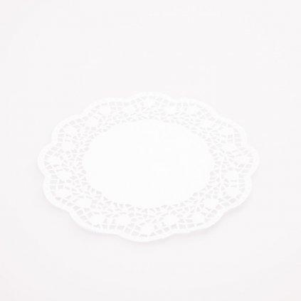 Podložka pod dort 18cm krajková bílá