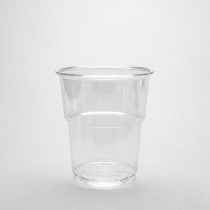 Kelímek na studené nápoje, Transparentní, 200ml,d-78mm, PET