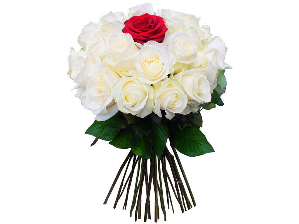bouquet rond 100 roses fleur rouge blanc 44868