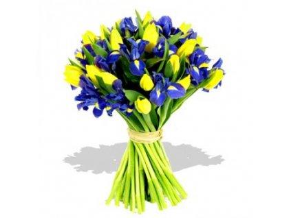 863 purple iris yellow tulips bouquet 500x500