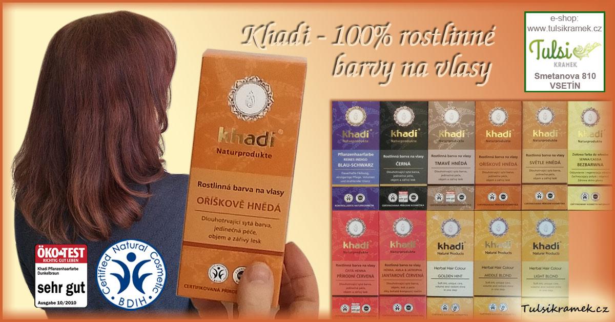 KHADI - certifikované rostlinné barvy na vlasy