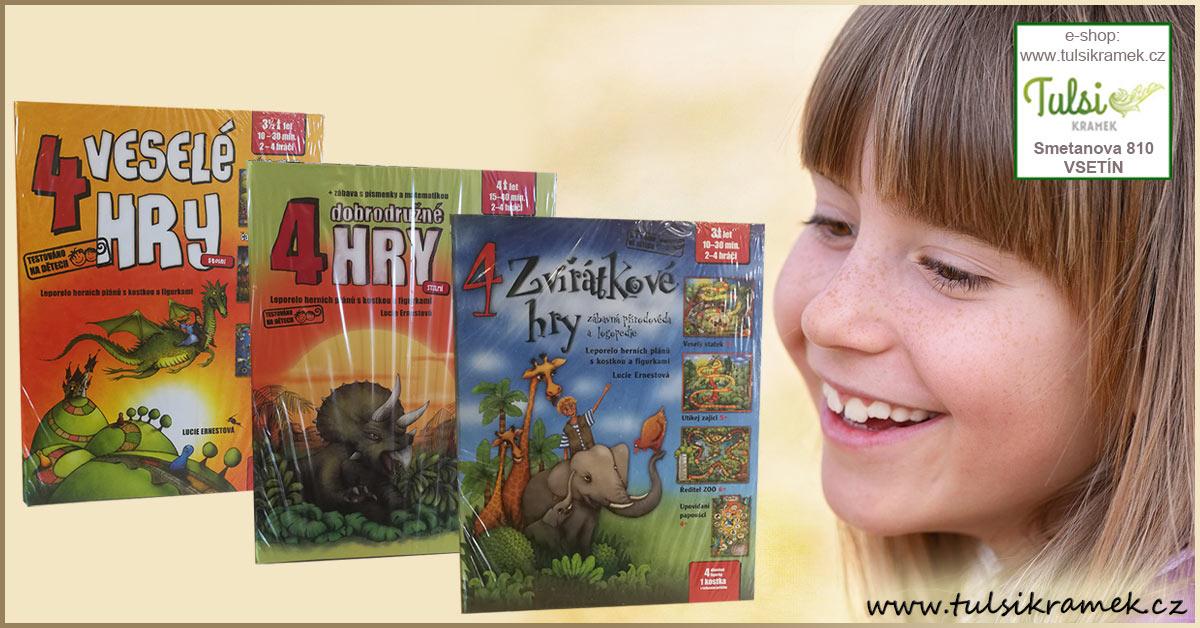 Knížkohry Lucie Ernestové - zábavný dárek pro děti