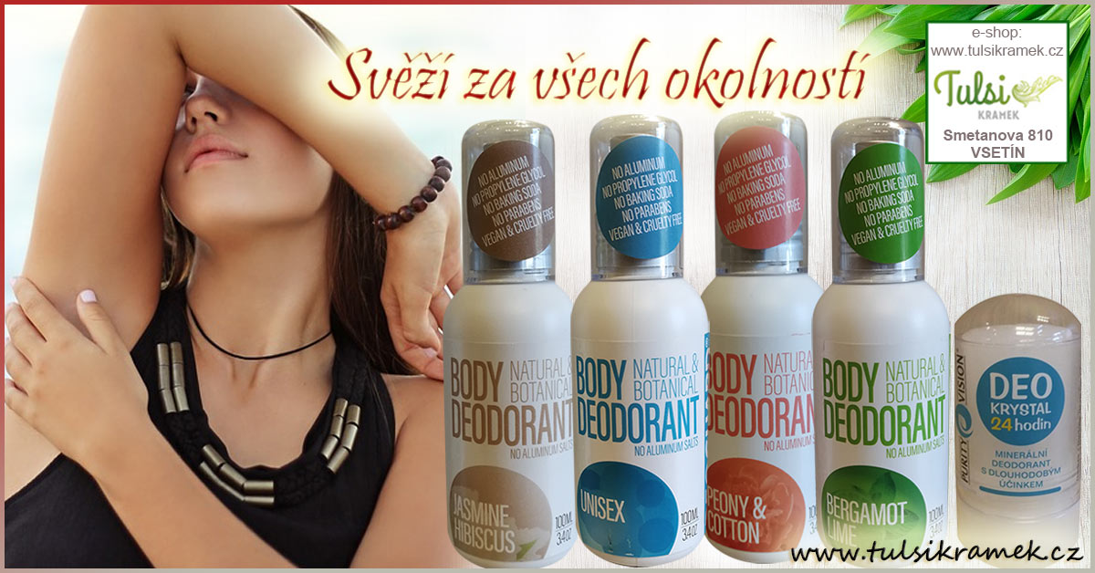 Svěží za všech okolností s deodoranty bez hliníku